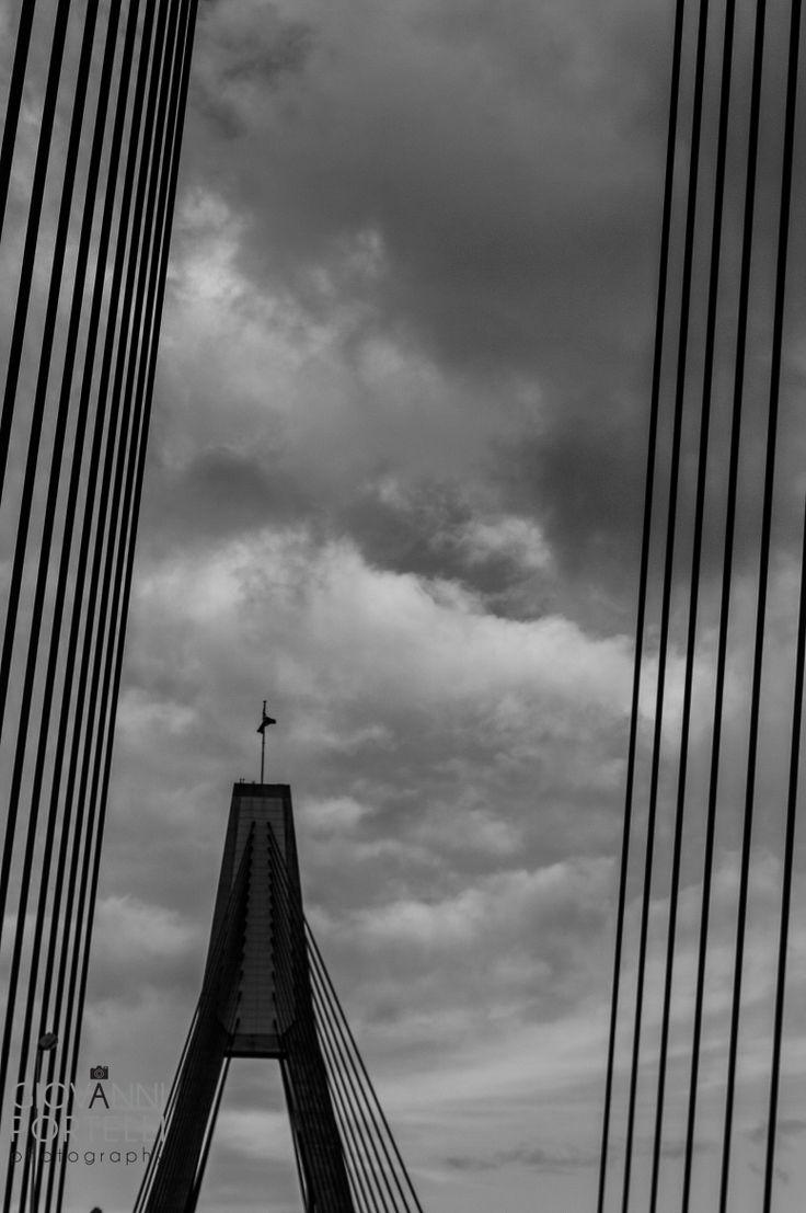 ANZAC Bridge. ANZAC Day 2014.