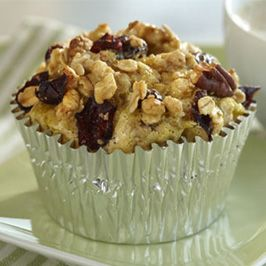 Granola Muffin Frittatas    A make-ahead breakfast with 4 simple ingredients. Add extra dried fruit or nuts, depending on what your family prefers.