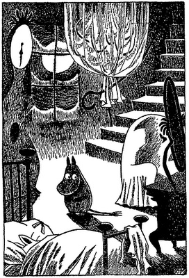 When Moomin awoke from his Midwinter hibernation and was all on his own. (Tove Jansson)
