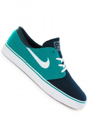 Nike SB Zoom Stefan Janoski Canvas Shoe (turbo green white obsidian)  #skatedeluxe &sk8dlx