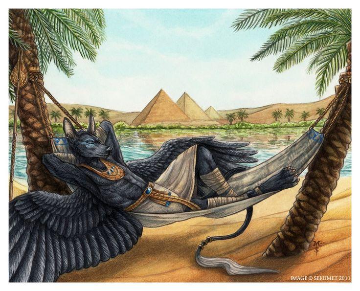 Basking in Egypt's Gold by Art-of-Sekhmet on DeviantArt