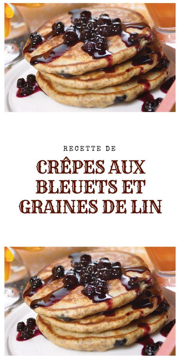 #crêpe #bleuets #grainedelin