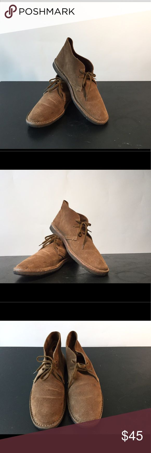 Men's J Crew brown suede desert boots. SZ 10 Nice of pair of J Crew suede chukka boots. Really stylish with jeans. Size 10 men's. Rubber gummy soles J Crew Shoes Chukka Boots