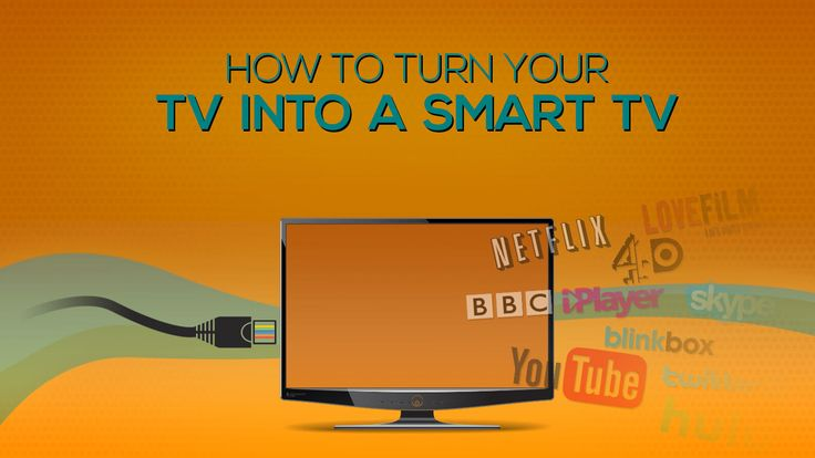 How To Turn Your TV Into A SMART TV Turning your regular TV into a SMART TV is easier than ever with the introduction of streaming devices, cheap cables and fast broadband connections. We're going to run through the simplest fixes for hooking your TV up to the internet. What is SMART TV? 'Smart TV' …