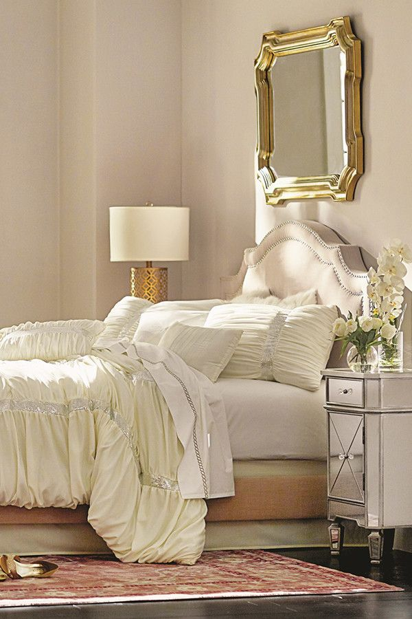 Gorgeous White Ruched Comforter In A Glam Bedroom. No Matter Your Personal  Style, Wayfair