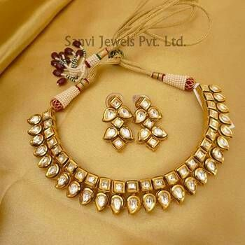 Uncut diamond necklace set