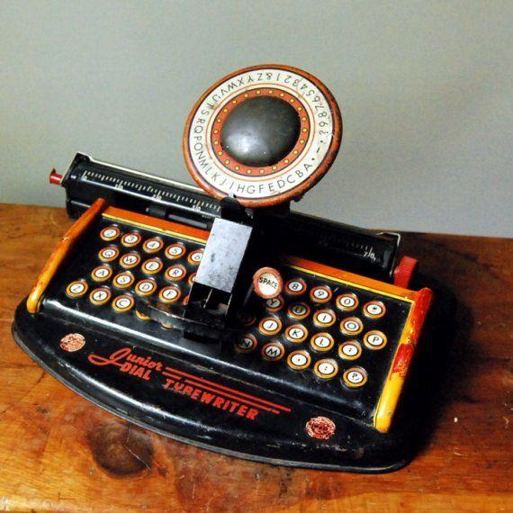#Etsy Vintage Marx Toy Typewriter, Junior Dial