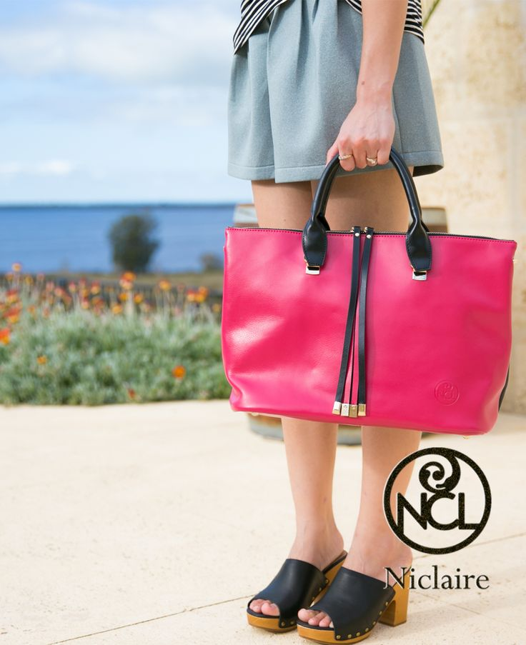 Traveller' essential with bit outstanding hot fuchsia color, from Niclaire SS2015