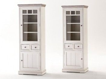 Opal Display Cabinet With Glass Door Left Side