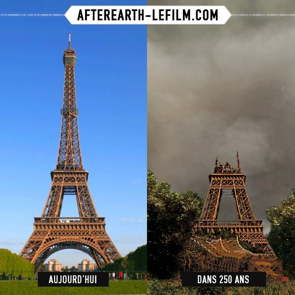 Nous avons quitté la terre il y a 1000 ans, voyons comment elle a évolué sans nous sur AFTER EARTH DECAY : http://www.afterearth-lefilm.fr/decaymap/