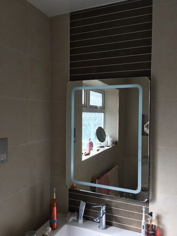 @CollingwoodLED Bathrooms with LED illuminated mirror #electrician #localbusiness