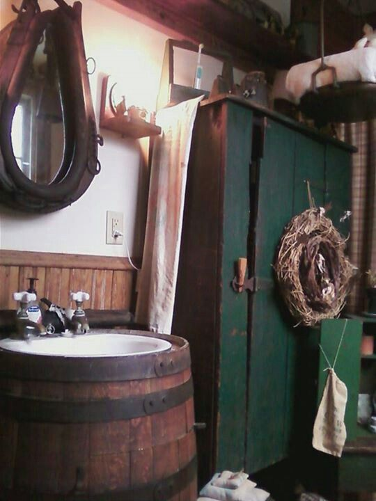 BATH On Pinterest Country Bathrooms Dry Sink And Cabin Bathrooms