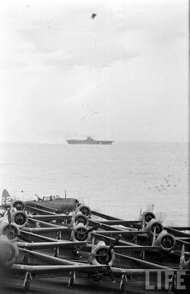 U.S. Navy Aircraft Carrier operations off of Papua New Guinea, November 1943 From the LIFE Magazine Archives - William C Shrout Photographer