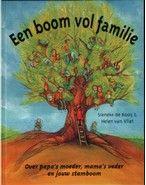 Boek - Naar aanleiding van de foto's in oma's huis maken Sofie en haar oma een stamboom van hun familie. Prentenboek met tekeningen in levendige kleuren over familieverbanden. Vanaf ca. 5 jaar.