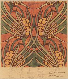 "Koloman Moser; Artwork ""Ambilech"" for Joh. Backhausen & Söhne; 1899."