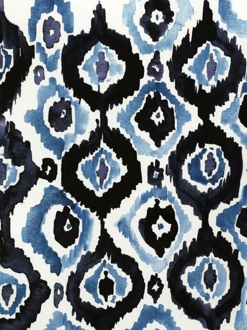 watercolor ikat patternIkat Pattern, Blue, Watercolors, Ikat Prints, Backgrounds, Art Prints, Textiles Pattern, Black, Design