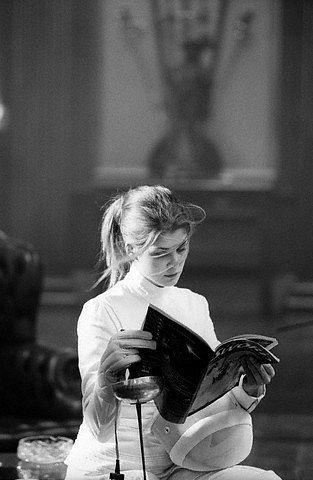 rosamund pike. black and white
