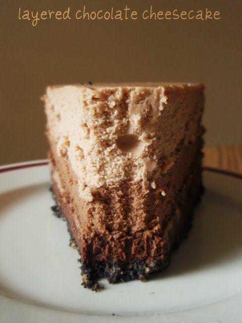Shades of chocolate cheesecake