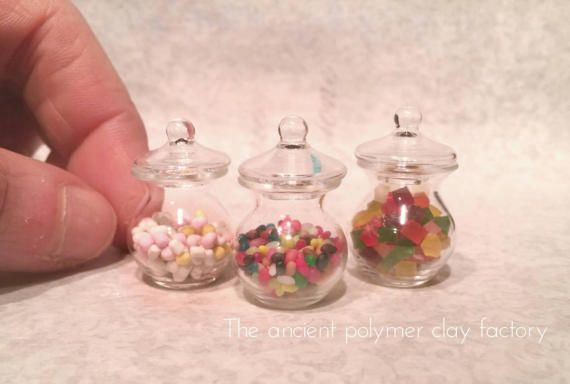 Guarda questo articolo nel mio negozio Etsy https://www.etsy.com/it/listing/504901792/miniature-candy-jar-sweets-jar