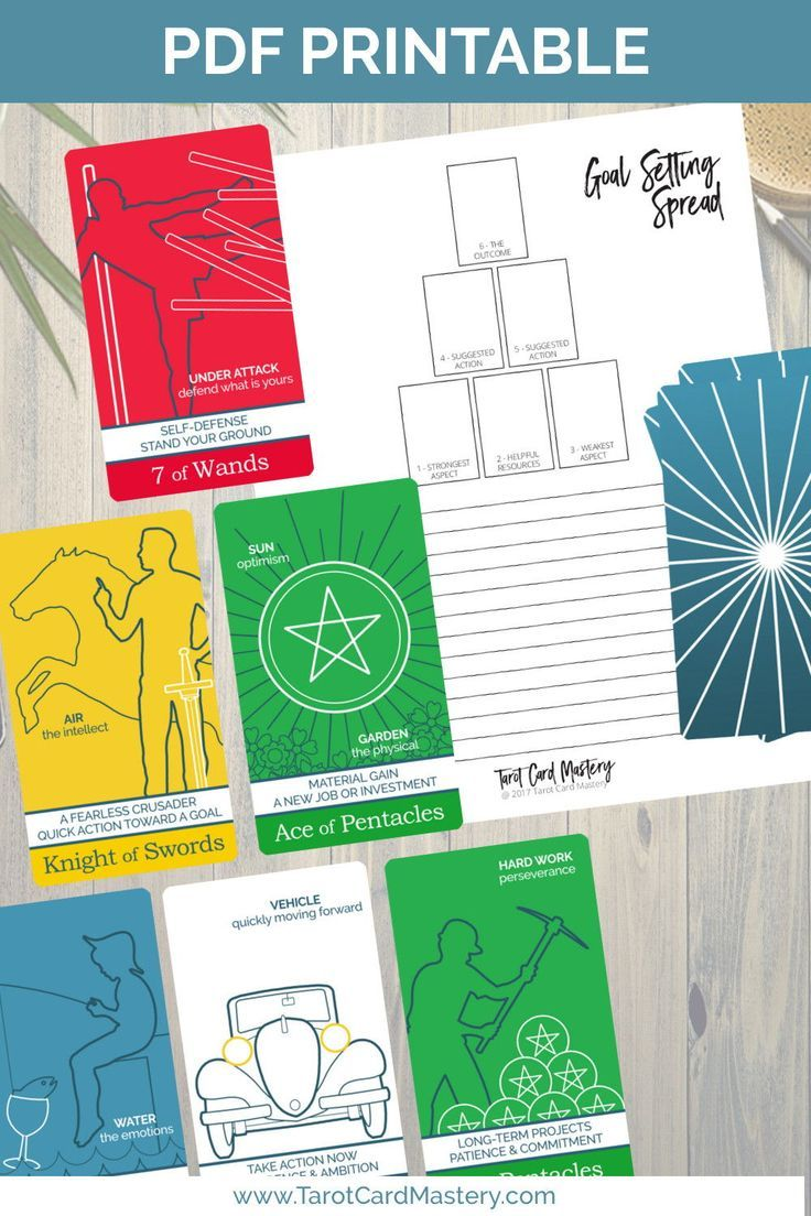Get free printable and downloadable tarot spreads from the