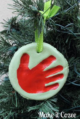 Hand print ornament recipe and tutorial
