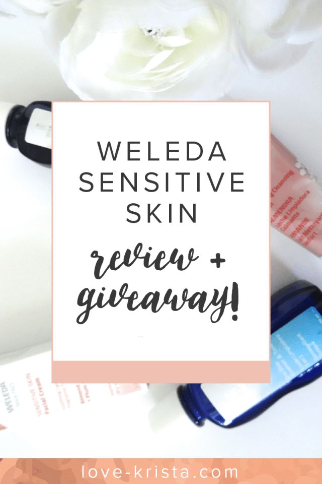 My review of Weleda products and enter to win the Weleda Sensitive Skin Giveaway!! From love-krista.com