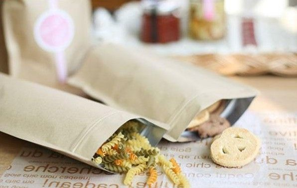 Standup Greaseproof Craft Paper Bag Gift Packaging Kraft Brown Paper Bags Zip Lock Paper Bag Food Container 15*21 cm