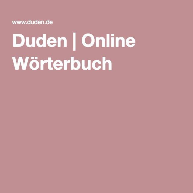 Duden | Online Wörterbuch
