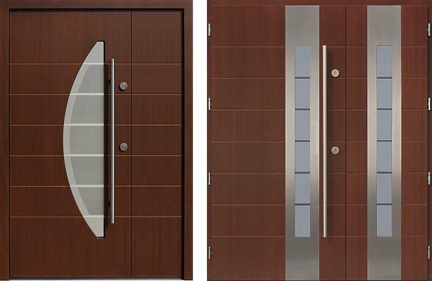 Drzwi zewnętrzne dwuskrzydłowe mix
