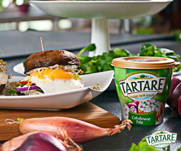 Na drugie śniadanie polecamy burgery w warzywnej odsłonie z Tartare Cebulowe Pole.  Przepis znajdziesz na: www.zasmakuj.pl/przepisy/przekaska-z-cebulowego-pola