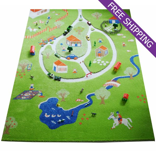 Kaleen Rugs IVI Kids Play Rug Farm