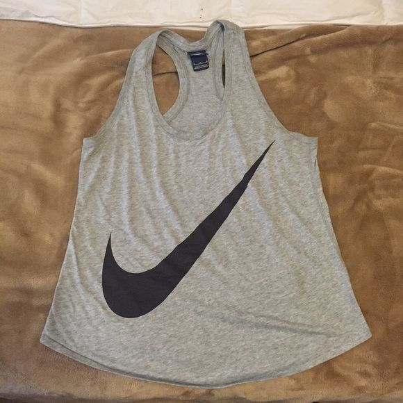 Nike tank top Pre loved heather grey Nike tank top. Still in great condition , well kept Nike Tops Tank Tops