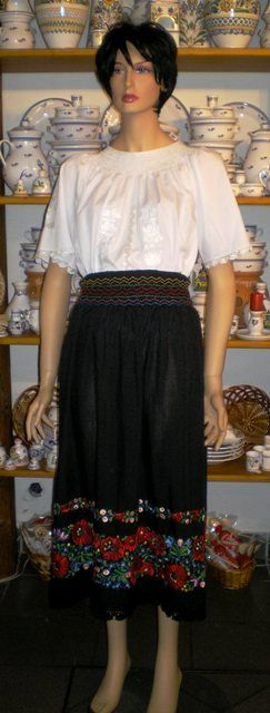 Hungarian folk wear: a matyó skirt from Mezőkövesd.
