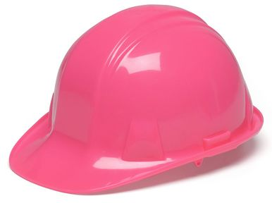 Pyramex Cap Style Hard Hat with 4-Point Ratchet Suspension, Pink