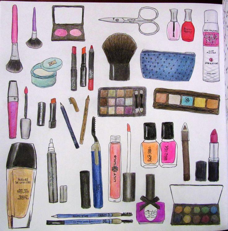 Zoe De Las Cases Secret New York Colouring Book, Cosmetics by Michelle