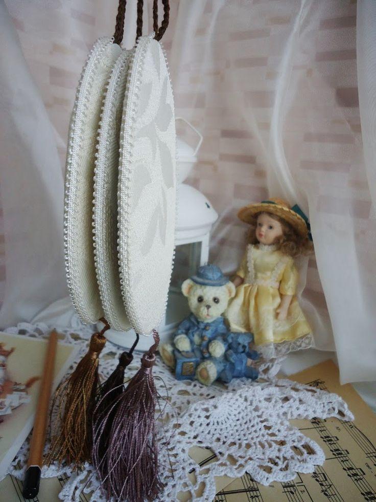 Уютный дом Юлии Архиповой: Винтажные елочные украшения с вышивкой
