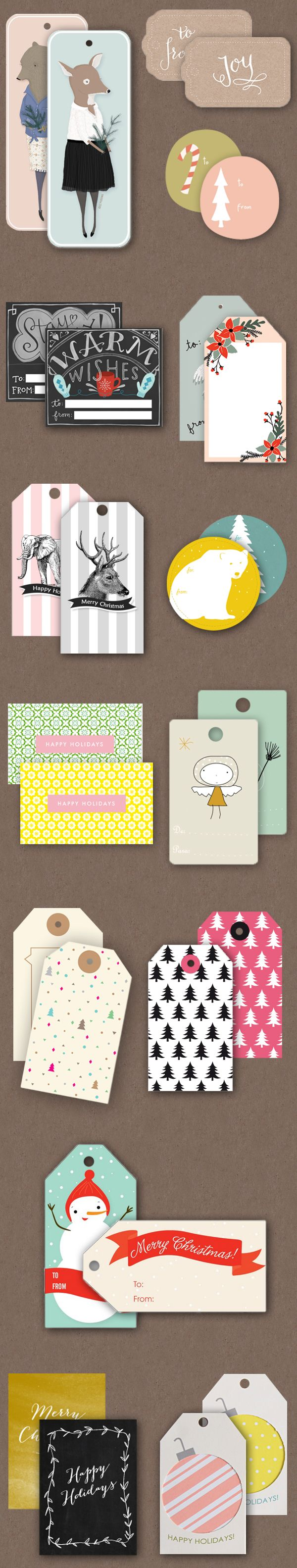 oh the lovely things .:. holiday roundup part two .:. free printable gift tags roundup