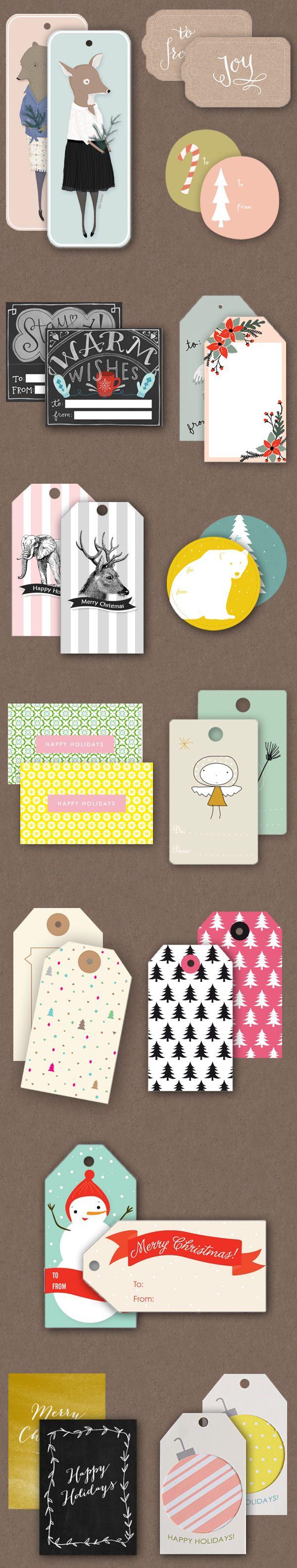 Etiquetas de regalo imprimibles gratis  -  Free printable gift tags