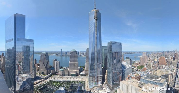 Earth Cam's time-lapse captures the completion of One World Trade Center, the tower which commemorates the events of Sept. 11.