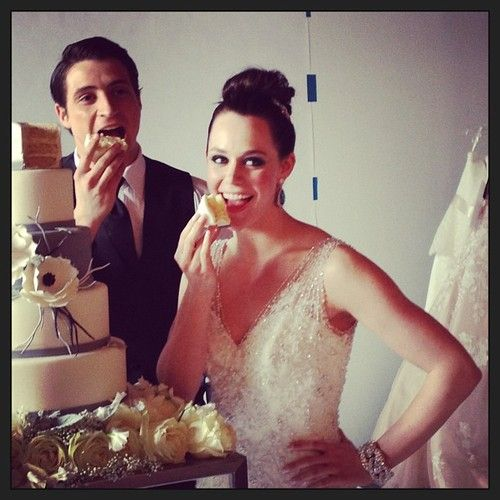 Virtue and Moir. Today's Bride photoshoot April 25.