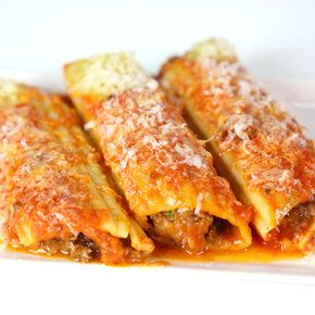 554 Baked Manicotti from The Chew   Can also use shells or layer in lasagna!