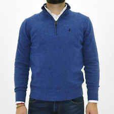 MARLBORO CLASSICS MCS Maglione con zip uomo lana jumper man maglia azzurro 4760