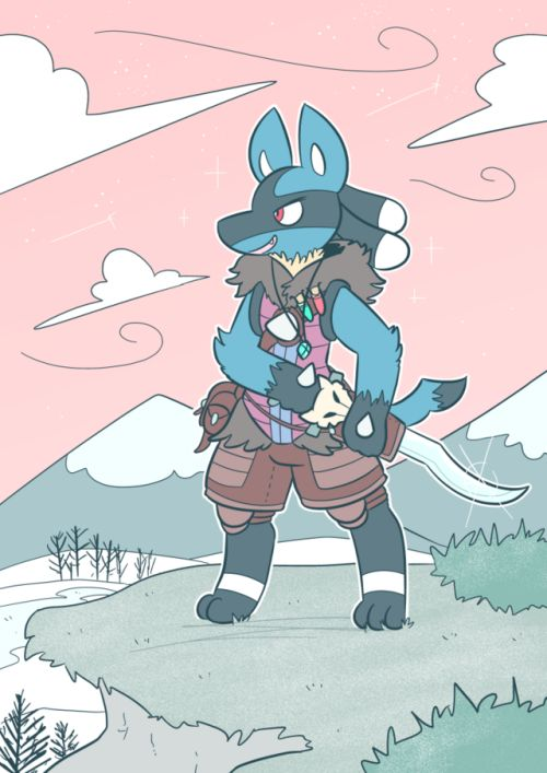 Cat boots dragon hunter lucario commission for discario