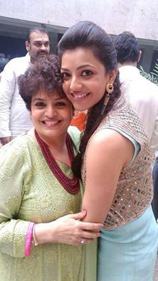 Kajal Agarwal with her mom