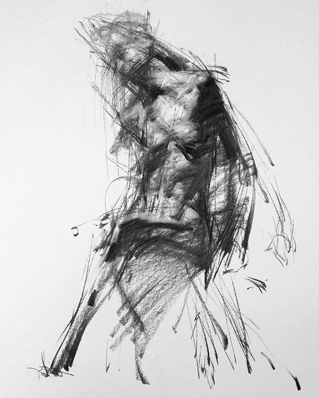Zin Lim @zinlimart - Allegro No.96 (Spiccato) (charcoal on paper) #zinlim