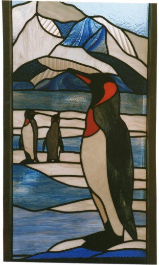 Penguins by Simone Kay Stained Glass