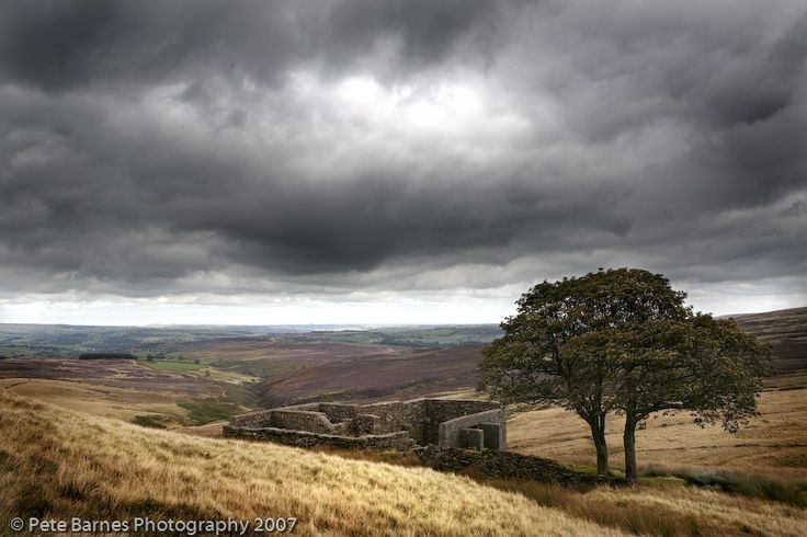 Haworth Moor, this is Top Withens which some say inspired Emily Bronte's Wuthering Heights I don't live that far, and I have to say it inspired my own writing! Did a post about it. http://carolegillauthor.blogspot.co.uk/2014/12/my-blog-header-is-place-i-know-very-well.html