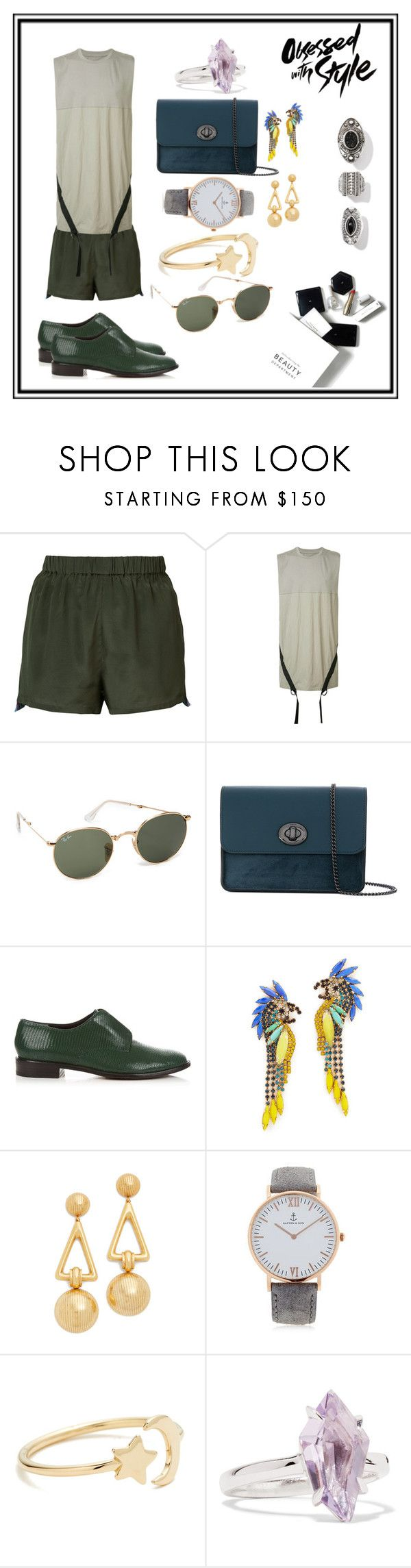 """""""beauty one style¶"""" by racheal-taylor ❤ liked on Polyvore featuring Figue, Bmuet(Te), Ray-Ban, Coach, Robert Clergerie, Elizabeth Cole, Kapten & Son, Ariel Gordon, Alexis Bittar and H&M"""
