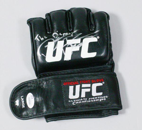 Dustin Poirier (with The Diamond Inscription) Autographed UFC Official Glove w/JSA