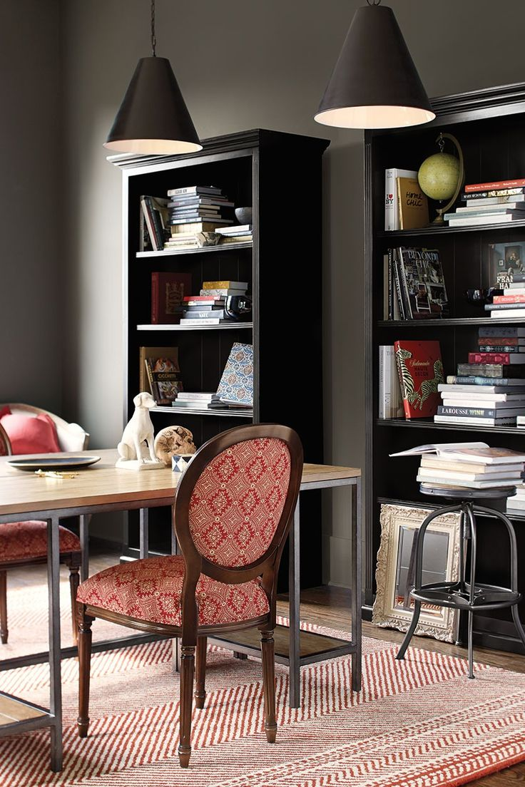 dark paint color inspiration for your room dark wallsballard designshome office - Ballard Home Design